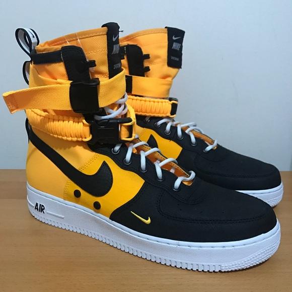 New Nike Sf Af Black Laser Orange Mens